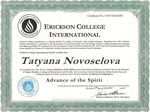 Erickson College International - Advance of the Spirit Certificate