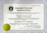 Erickson College International - Team Coaching Innovation Certificate